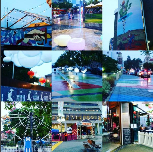 Perth city during the Fringeworld festival